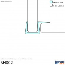 SH002 Shower Screen Seal (10mm glass)